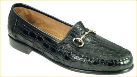 SKU# OAW743 137 black Genuine Crocodile. This classic look is clad in our luxurious new soft glove crocodile lea