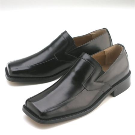 SKU#MM400 Black Calfskin Slip-On $75