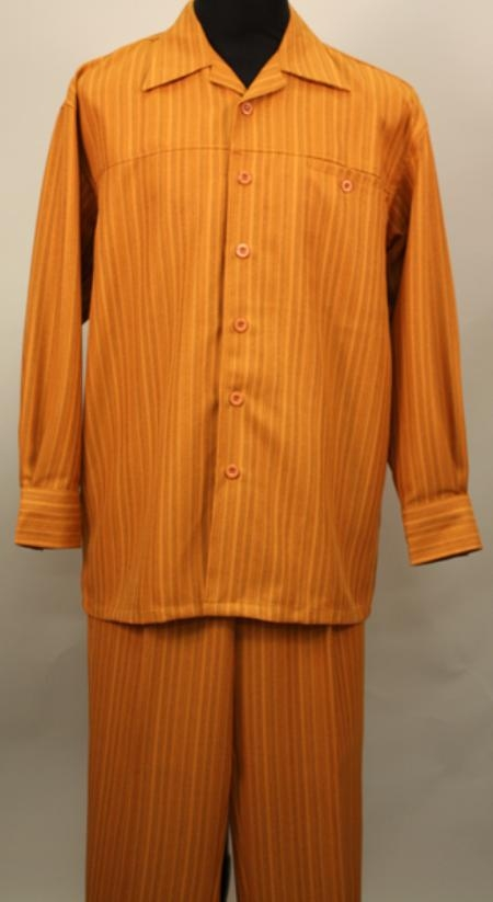 SKU#JG9193 Brick 2 Pc Long Sleeve Shirt and Pants Set $115