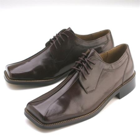 SKU#UG420 Brown Calfskin Lace-Up $75