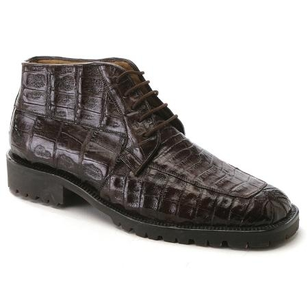 SKU#MQ2464 Brown Genuine Crocodile ~ Alligator