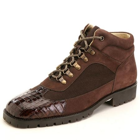 SKU#RV3923 Brown Genuine Crocodile ~ Alligator Boots $235