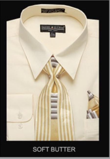 SKU#SF9011Mens Classic Dress Shirt Soft Butter $39