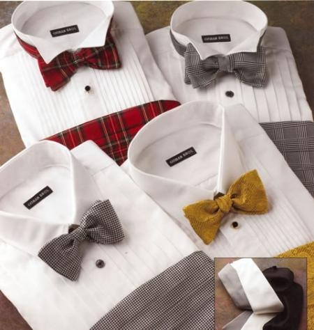 Gitmans classic formal shirts. Comes with 5 or 10 Pleats, and either a Point or Wing Collar $95