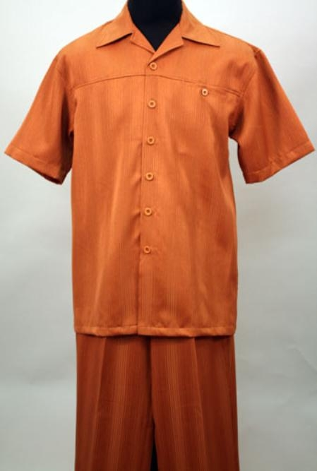 SKU#GM9222 Copper 2 Pc Shirt and Pants Set $99