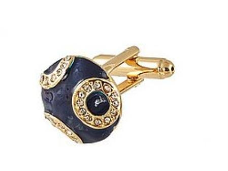 SKU#HU390 Cufflinks Gold Xk 0034G Blue $39