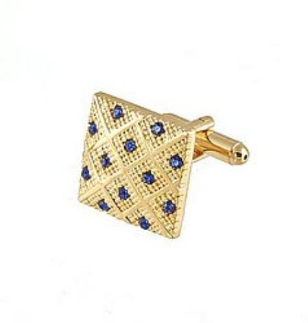 SKU#RJ881 Cufflinks Gold Xk 0042G Blue $39