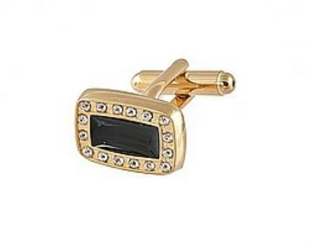 SKU#FK110 Cufflinks Gold Xk 0067G Black $39
