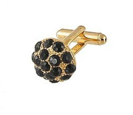 SKU#RN722 Cufflinks Gold Xk 0068G Black $39
