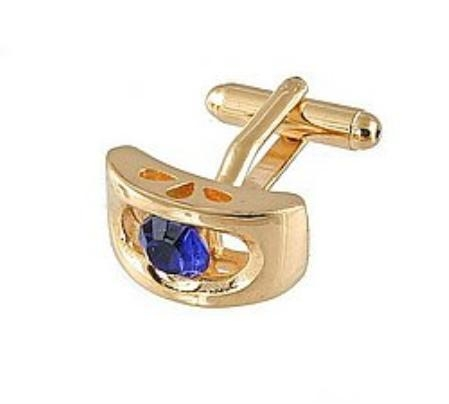 SKU#KJ815 Cufflinks Gold Xk 0072G Blue $39