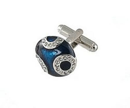 SKU#KS732 Cufflinks Silver Xk 0034S Blue $39