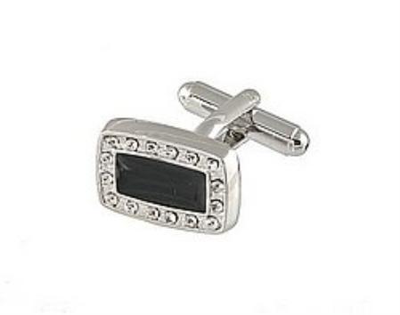SKU#FJ312 Cufflinks Silver Xk 0067S Black $39