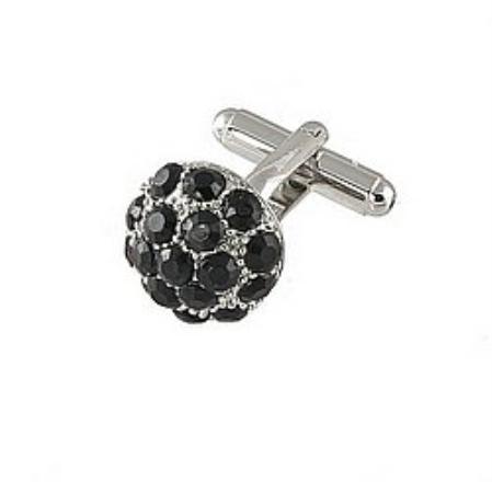 SKU#JS641 Cufflinks Silver Xk 0068S Black $39