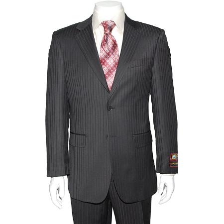 SKU#DS4198 Dark Navy Blue Two-button Suit $139