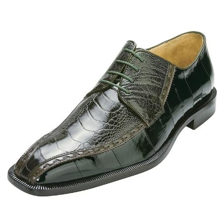 SKU#UM7333 Emerald Green Genuine Ostrich/Eel $259