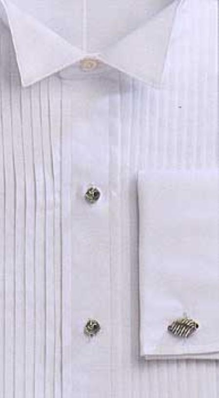 # 1803 GITMAN, exquisite TUX, 10-pleats, WING collar 100% Egyptian cotton, fine/soft $87