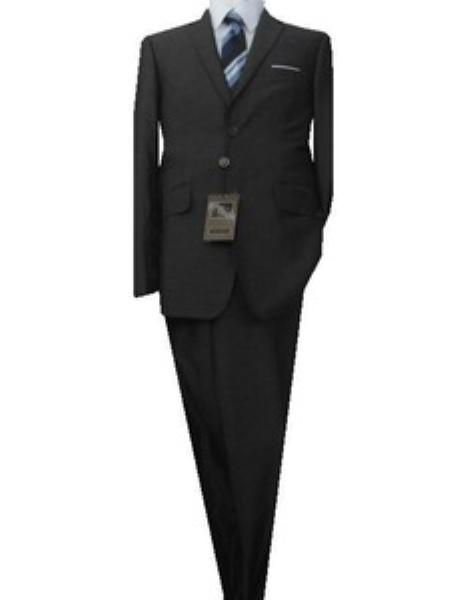 SKU#GU2419 Fitted Tailored Slim Cut 2 Button Euro Slim Metallic Gray Teakweave Mens Suit $139