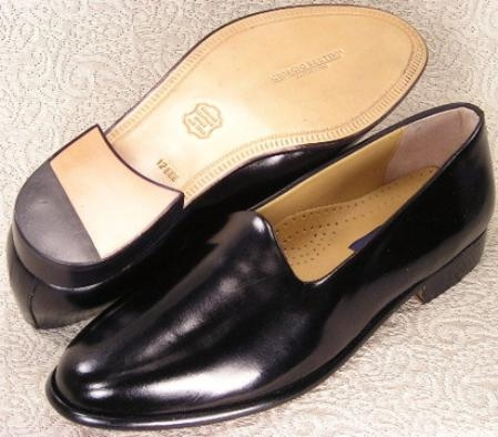 SKU#24437 formal plain toe slipon features a soft patent leather or calfskin leather upper, cushione
