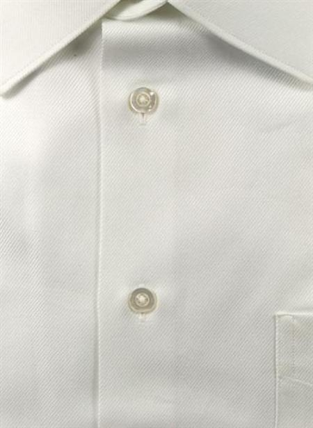 Gitman Brothers Raised Twill Modified Spread Collar White On Sale: $80
