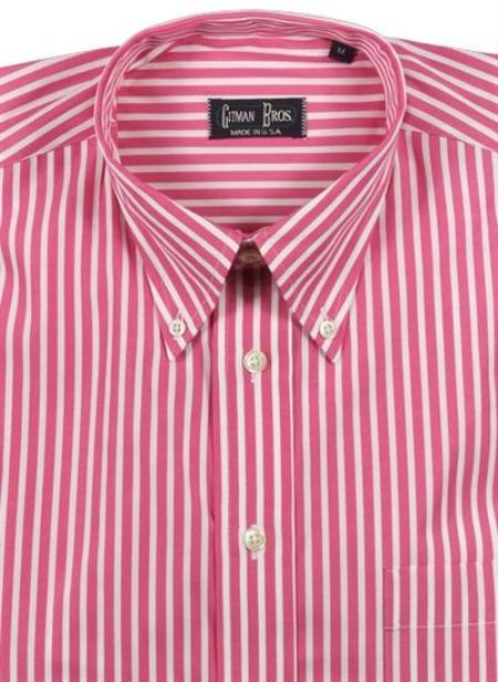 Gitman Sport Reverse Ground Stripes berry On Sale: $105