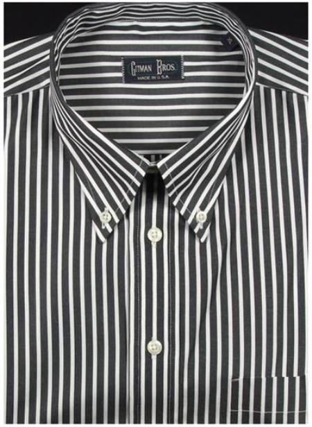 Gitman Sport Reverse Ground Stripes Black On Sale: $115