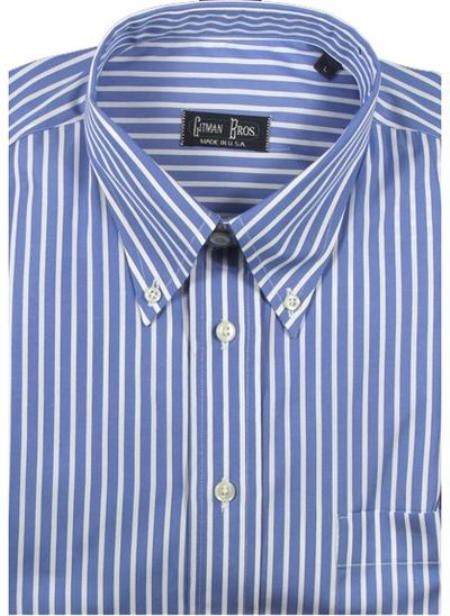 Gitman Sport Reverse Ground Stripes blue On Sale: $105