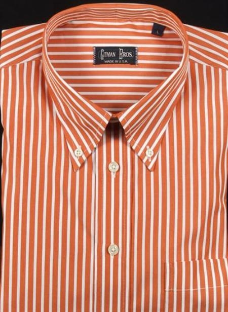 Gitman Sport Reverse Ground Stripes melon On Sale: $105