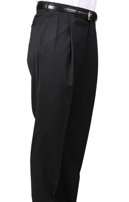 SKU#SL8967 Gray, Parker, Pleated Pants Lined Trousers $99