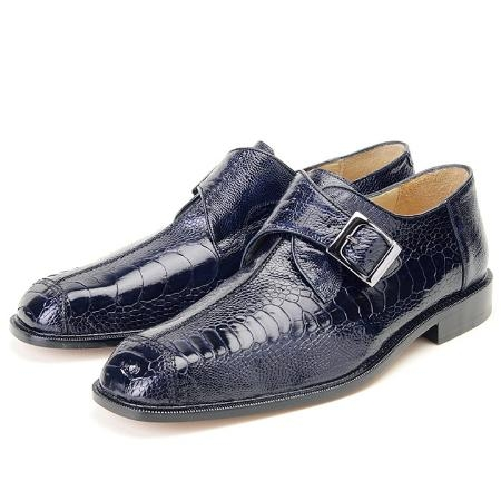 SKU# GRE545 Navy, Genuine Ostrich Leg by Belvedere $299