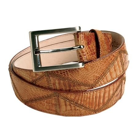 SKU#DQ0022 Honey Alligator Patchwork Belt $99