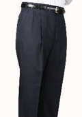 SKU#UZ3457 45% Worsted Wool Navy Somerset Pleated Trouser $99