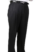 SKU#YP9346 55% Dacron Polyester Black Somerset Pleated Trouser $99