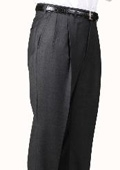 Polyester Charcoal Somerset Double-Pleated