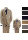SKU# CSW862 1 Men + 1 Boy MATCHING SET FOR BOTH FATHER AND SON 3 Button WOOL SUIT $289
