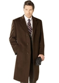 Wool Top Coat Brown