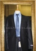1 Button Navy Solid 100% Wool