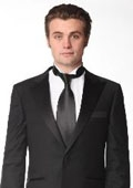SKU#OB2800 1 Button Peak Lapel Tuxedo by Mattarazi Uomo $159