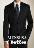 SKU# SB1 Exclusive New Style Mens Solid Black 1 Button Super 150's Wool Dress Suits $175