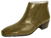 Plain-toe demi boot with