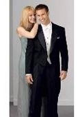 SKU#UZ704 100% Wool Peak Tailcoat Black $169