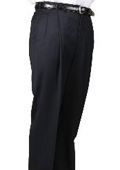 SKU#WV9659 100% Worsted Wool Navy, Parker, Pleated Pants Lined Trousers $99
