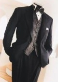 SKU# SD-120 2 Button Gianni Super 140's Wool premeier quality italian fabric Design jacket + Pants + Shirt  + Bow Tie $199