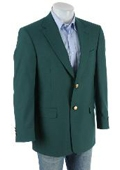SKU#13-26 Ivy Green Antique brass crest buttons Blazer Natural shoulders (Men + Women) $179