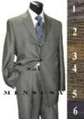 3 Buttons Mini Checkers Weave Salt & Pepper Birdseye Pattern Suit $179