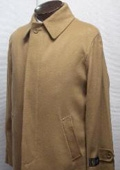 SKU#Sloan 35 inch four button  fly front coat with set-in sleeves & slash pockets wool&cashmere $199