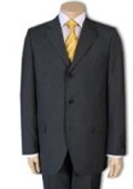 SKU# GB77 2/3/4 Buttons Mens Dress Business Charcoal Gray 100% Wool Super year round Wool Suit