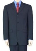 SKU# GB77 2/3/4 Buttons Mens Dress Business Dak Navy Blue 100% Wool Super year round Wool Suit