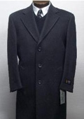 SKU#Sentry3310 45 Inch Charocal Gray classic model features button front Wool&Cashmere $175
