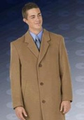 """SKU#Sentry8811 45\"""" single breasted classic model features button through front, notch lapel $195"""