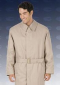 Raffuni~GAVIN8712 46 inch center vent, fly front coat with split raglan sleeves, full belt $199